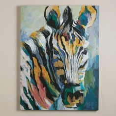 One of my favorite discoveries at WorldMarket.com: 'Safari Zebra' by Frank Parson...$80...;/