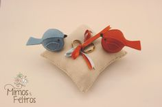 Almofada para Alianças Love Birds
