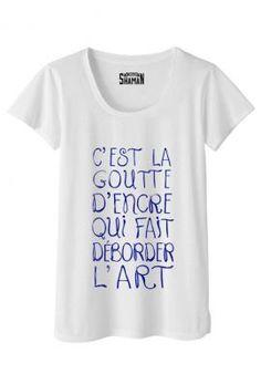 """T-shirt """"Goutte d'encre"""""""