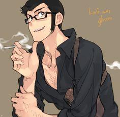 King with glasses. by Tojosaka666 on DeviantArt