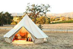 """S.F.'s Glamping Gurus Show Us How To Entertain Outside In Style! #refinery29  http://www.refinery29.com/glamping-essentials#slide2  A look at a Shelter Co. tent, set up on the awe-inspiring grounds of Campovida.      How would you describe a Shelter Co. experience?  """"The Shelter Co. experience is a luxurious way to enjoy the outdoors. Our setups allow people to unplug, get back to nature, and unwind without having to rough it and feel exhausted at the end of the trip. Camping is tiring! By…"""