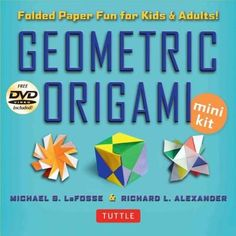 This compact origami kit contains everything you need to create beautiful, geometric origami sculptures. Art and math intertwine in exciting and complex new ways in Geometric Origami Kit . World renow