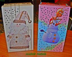 Scatole porta regalo. Carine, simpatiche e deliziose per contenere i regali di Natale ma, se decorati in modo diverso, anche per qualsiasi regalo.