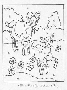 Color by Number Farm Animal Cow Printable numbers, Farm