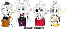 Freddy's at Five Nights Anime