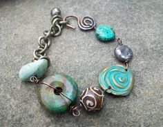 Earthy Goodness Eclectic Bracelet от stacilouise на Etsy