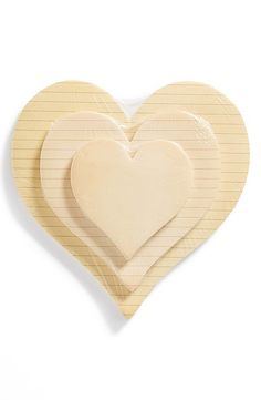 Heart-shaped Sticky Pads ($24 for set of 3)