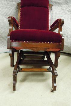 Eastlake Style Chair  Eastlake Style Glider Rocking Chair