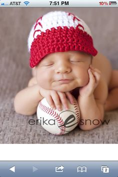 Cute Baseball Baby                                                                                                                                                     More