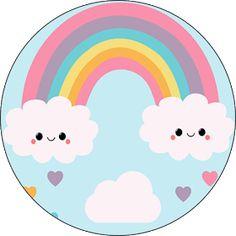 Fiestas Personalizadas Imprimibles: Topper Lluvia de amor. Descarga Gratis Donut Birthday Parties, Rainbow Birthday Party, Baby Birthday, Rainbow Party Decorations, Rainbow Parties, Cloud Party, Retro Candy, Chore Chart Kids, Rainbow Card