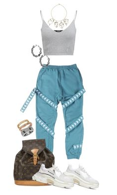 """""""Untitled #329"""" by cryamilet19 on Polyvore featuring C2H4, Balenciaga, Louis Vuitton, Rosie Assoulin and Cartier"""