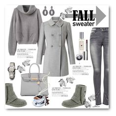 """Cozy Fall Sweaters"" by jelenalazarevicpo ❤ liked on Polyvore featuring ONLY, Miss Selfridge, UGG Australia, Oscar de la Renta, Hermès, David Yurman, SAM, Jo Malone and Clinique"