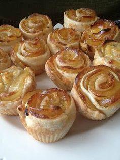 ROSAS DE CREMACATALANA CON MANZANA Hoy es Sant Jordi y que mejor que celebrarlo con unas ricas rosas. Yo las he hecho de con crema catalan...
