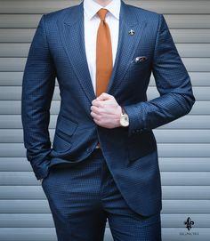 Mens Fashion Suits, Mens Suits, Men's Fashion, Blue Suit Men, Blue Suits, Classy Men, Mens Style Guide, Gentleman Style, Wedding Suits