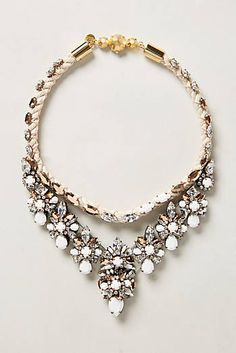 Sparkle Bib Necklace #AnthroFave #slimmingbodyshapers To create the perfect overall style with wonderful supporting plus size lingerie come see slimmingbodyshapers.com