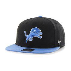 info for 2c26e d3c05 Detroit Lions 47 Brand Blue Raz Brain Freeze Cuff Knit Hat
