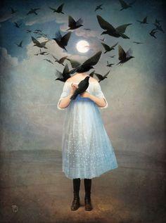 Art — surreal-art: Moonlight by Christian Schloe