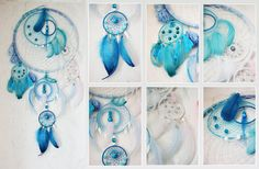 Hey, I found this really awesome Etsy listing at http://www.etsy.com/listing/123911546/blue-dreamcatcher