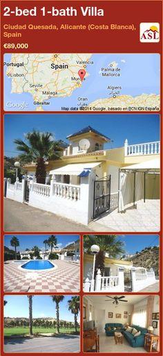 2-bed 1-bath Villa in Ciudad Quesada, Alicante (Costa Blanca), Spain ►€89,000 #PropertyForSaleInSpain