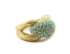 Panetta Turquoise Textured Ring