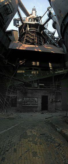 Old blast furnace house