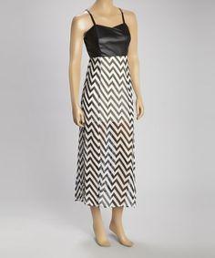 Love this Black & White Zigzag Maxi Dress on #zulily! #zulilyfinds http://ricochetranch.dressingyourtruth.com