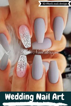 Wedding Nail Art Give You BEautiful Look For Party and Other Occasion With Multi Colors And Unique Fashion Picture Credit @heli.nail.design #nails #nailstagram #nailsofinstagram #notpolish #manicure #artnails#fashionnails #nailart