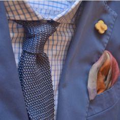 refinedcoast: Such a sharp dusty blue suit from Lardini.