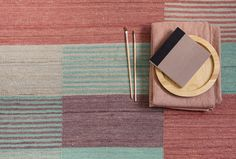 Designed by Raw Color for Spanish design house nanimarquina, the Blend 2 Rug plays with the visual perception of colours, with different hues merging before your eyes to create new colours. Available in two sizes, the statement flat-weave rug is expertly