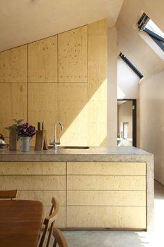 concrete and wood kitchen #decor #kitchen