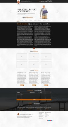 A Showcase of the some of the design i made in my current workplace from 2012 Lawyer Website, Injury Attorney, Personal Injury, Lorem Ipsum, Workplace, Minimal, Apps, Behance, Birthday