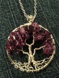 Amethysth Tree of Life Handmade Jewelry Pendant by Just4FunDesign, $25.00