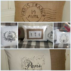 Lee Caroline - A World of Inspiration: Rustic Country Crafts - Gorgeous burlap/hessian cushions