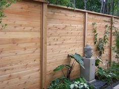 Horizontal Wood And Metal Fence   homeszu.com - Home Ideas Galleries!