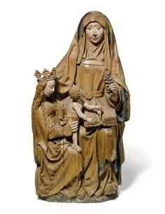 Antwerp School, 16th Century, St Anne with the Virgin and Child, or Anna-te-Drieën