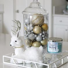 My husband says this deer is creepy lol but I think it's adorable! ❄️❄️✨✨ . . . . .#home #homedecor #interior #myhome #decor #decorating #style #homedecorating #room #homeinspo #inspiration #interiorstyling  #interiorandhome #interiors #interiordesign #interiordesigner #interiorinspiration  #eleganceroom #interiorstyle #interiorlovers #christmas #christmasdecorations #michaelscrafts #kitchen #candle #bathandbodyworks #target #interiør #interior123 #makeitwithmichaels