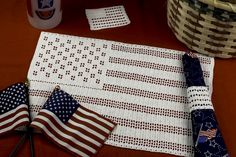July 4th Placemat Set crochet pattern available at TheCrochetArchitect.com.