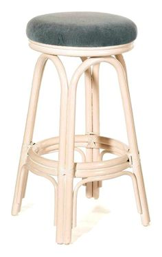 Hospitality Rattan - Carmen Indoor Swivel Rattan & Wicker Counter Stool w Cushion•This product is warranted for indoor use •Made of Rattan Poles and Woven Wicker •Traditional Indoor Wicker & Rattan Counter Stool •Includes cushion with choice of fabric in a variety of colors and patterns •Swivel Mechanism included $152