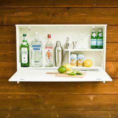 Bar suspenso para espaços pequenos