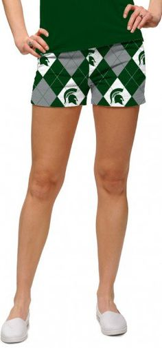 Michigan State Sparty On Women's Mini Short