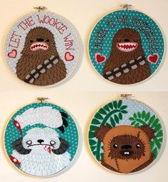 Star Wars embroidery. Awesome. #Starwars #DIY