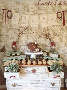 Dessert Display from a Snow White Enchanted Forest Birthday Party via Kara's Party Ideas KarasPartyIdeas.com (18)