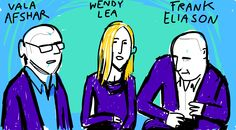 @FrankEliason chats with @WendySLea and @ValaAfshar #pivotcon #draw #doodlely