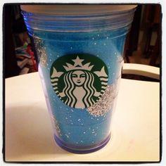 My polka dot glittered Starbucks cup :)