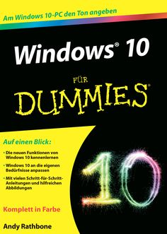 Windows 10 für Dummies Für Dummies, Windows 10, Free Ebooks, Movie Posters, Kindle, Amazon, Getting To Know, Jokes, Reading