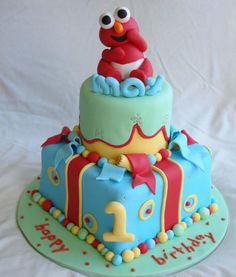 Love this cake! Can't wait to be able to make baby cakes :) Elmo Birthday Cake, Baby First Birthday Cake, Elmo Cake, Birthday Cake Pictures, Birthday Ideas, Happy Birthday, Cake Blog, Occasion Cakes, Cute Cakes