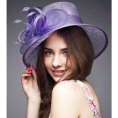 Chapeau capeline femme en mousseline de soie indigo fleur mode leger beau