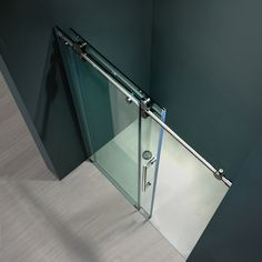 find this pin and more on parkside vigo clear glass frameless sliding shower door