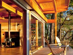 Vancouver-based architect firm Osburn/Clarke designed a series of vacation summer cabins in the Gulf Islands of British Columbia, Canada that intimately connect with their surrounding environment. Coastal Farmhouse, Modern Coastal, Coastal Cottage, Coastal Homes, Coastal Decor, Coastal Industrial, Coastal Entryway, Coastal Bedding, Coastal Furniture