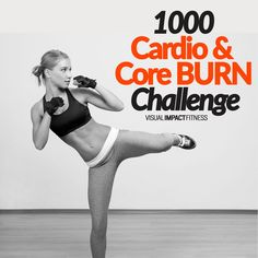 1000 Cardio & Core BURN Challenge - Here is a bodyweight circuit that targets the core while providing a calorie burning cardio workout. By week 4 each workout will burn 1000 calories every workout.    #hiit #epoc #afterburneffect #intervaltraining #intervals #hiitworkout #fullbodyworkout #hiitcardio #circuittraining #cardioworkout #quickcardio #fitness #healthyliving  #fitsporation #fatloss